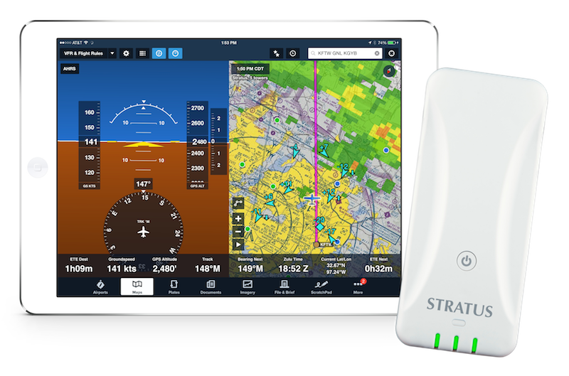 Foreflight Stratus 3 Ads B In Weather Amp Traffic