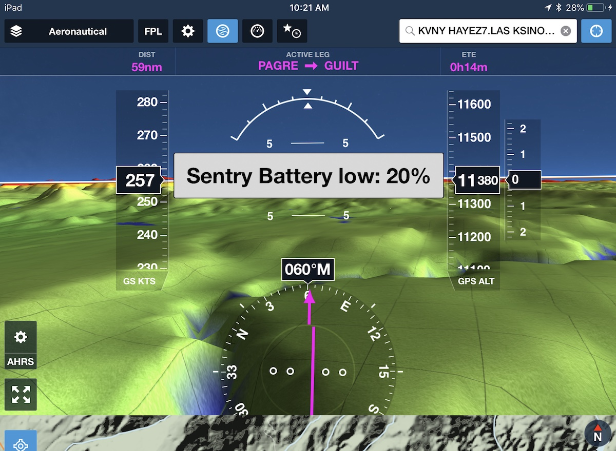 Foreflight Connect With Portable And Installed Avionics Icom Computer Headset Wiring Diagram Low Battery Alert For Connected Devices