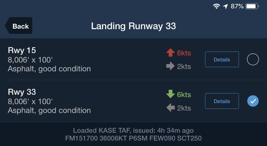ForeFlight - Takeoff & Landing Performance Support
